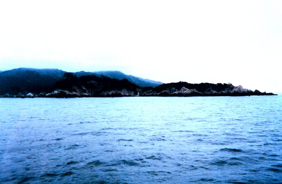Point Lobos and the mountains of Big Sur as seen from Carmel Bay.