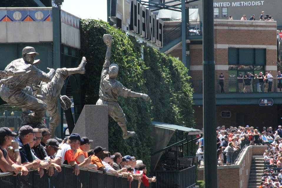 Statues at Detroit Tigers Stadium