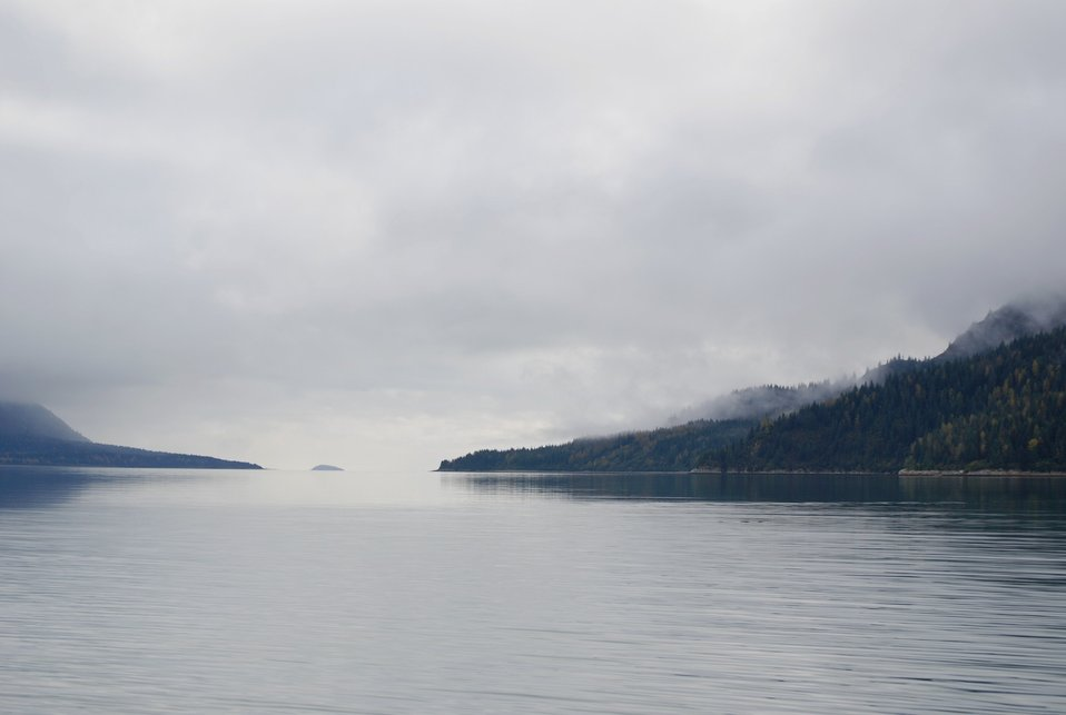 Looking south toward Glacier Bay from Blue Mouse Cove