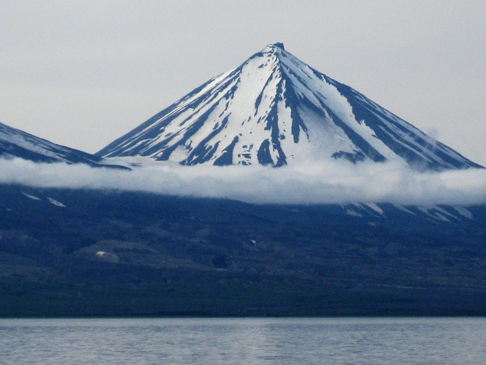 Pavlof Sister Volcano as seen from the Cold Bay area.