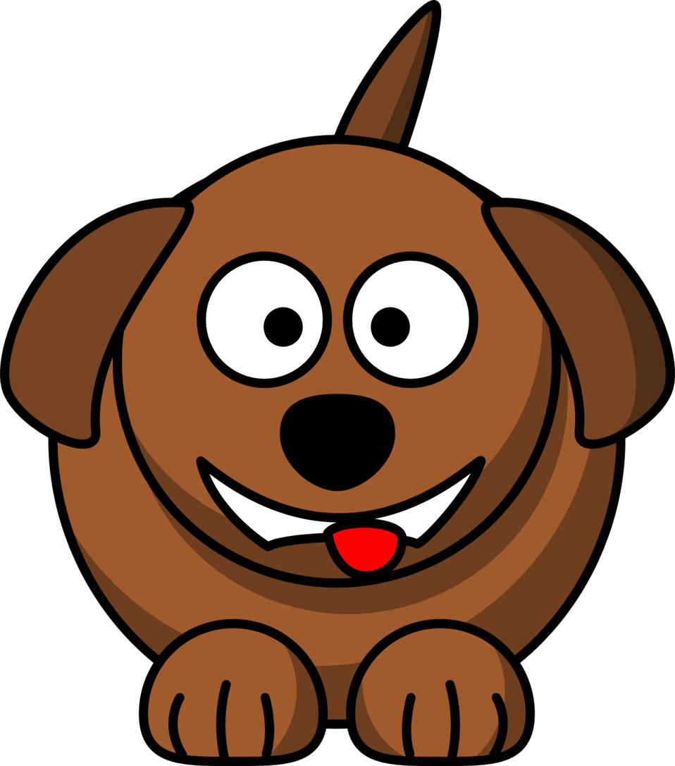 Cartoon dog laughing or smiling