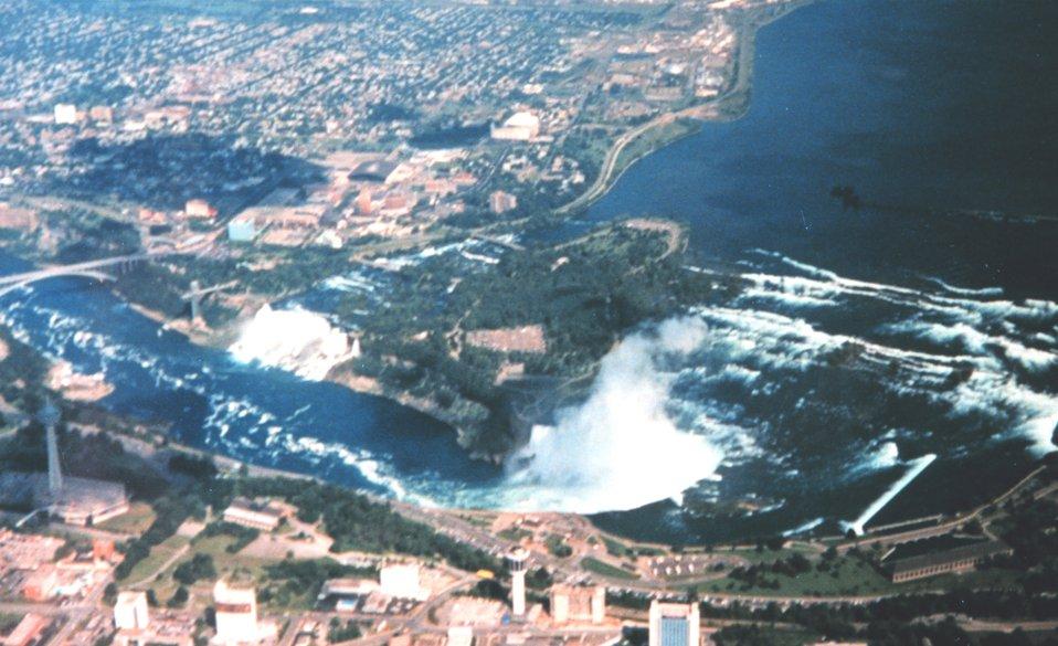 Niagara Falls from the air.