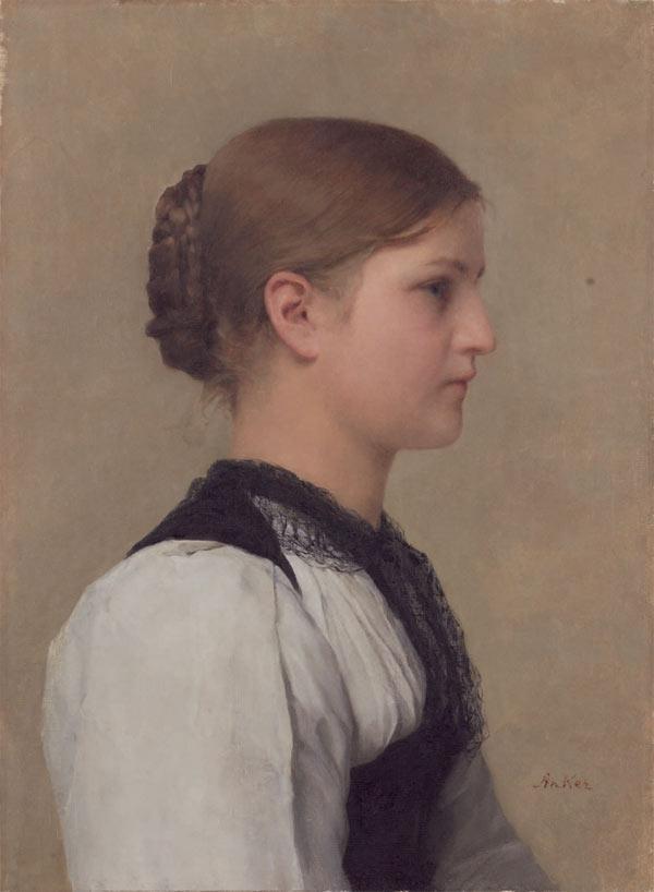 Albert Anker - Brustbild eines Mädchens in Berner Tracht.jpg