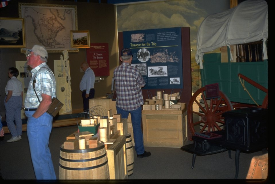 Visitors in exhibits of the NHOTIC.