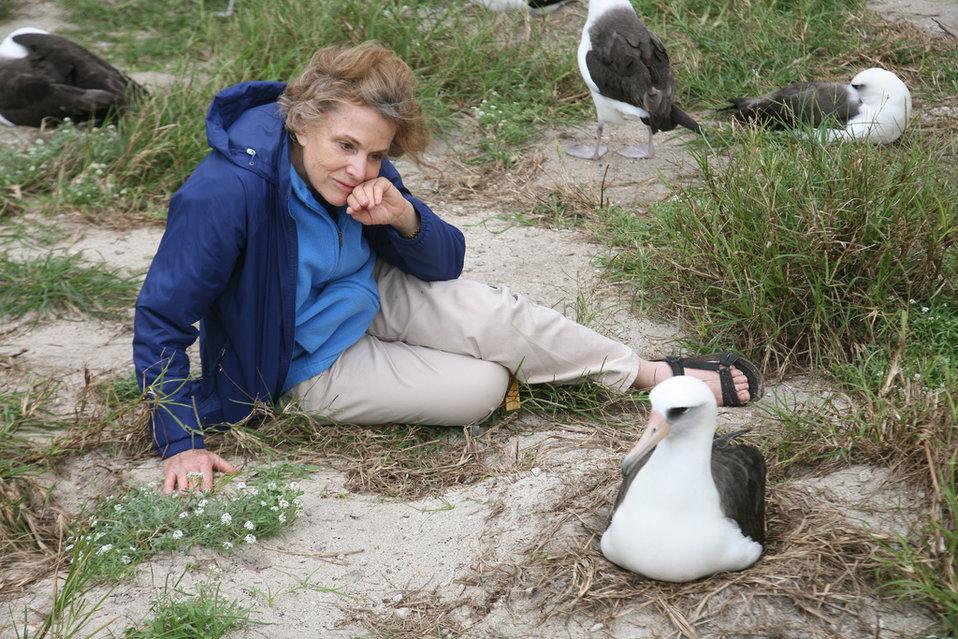 Sylvia Earle and Wisdom the Albatross