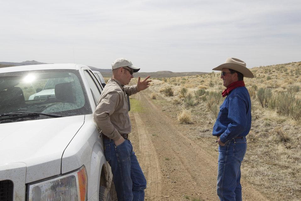 Landowner Meeting with Partners for Fish & Wildlife Program biologist