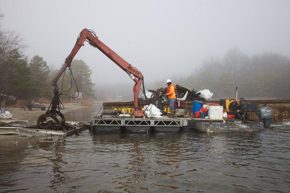 Forsythe NWR debris cleanup