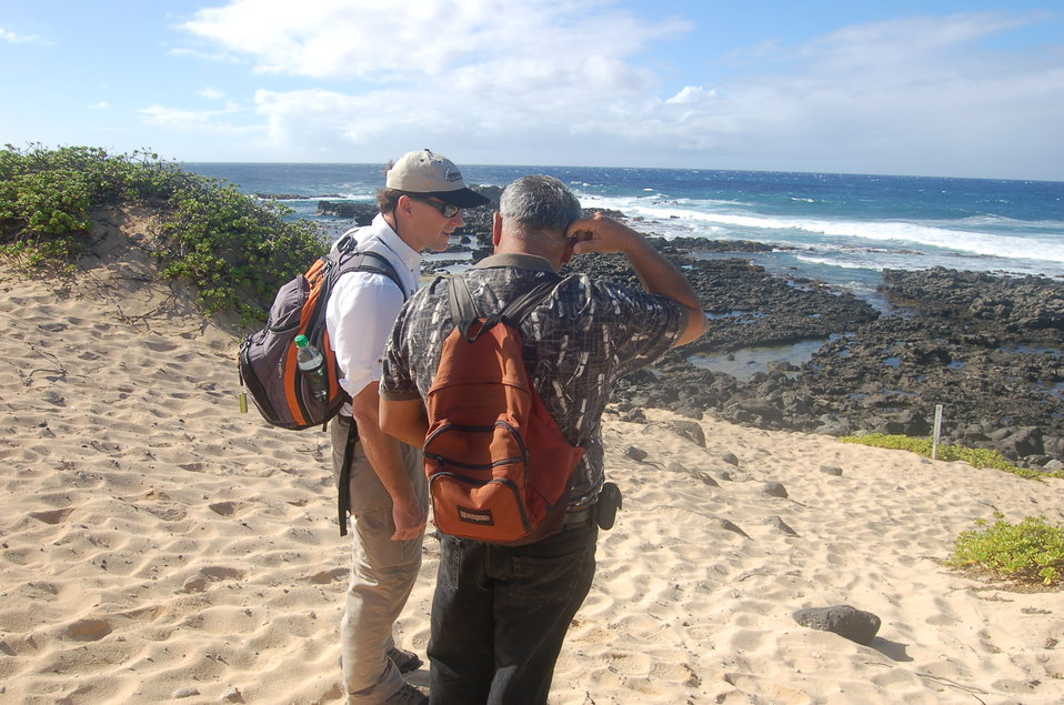 Dan Ashe tours Ka'ena Point State Park in Hawaii