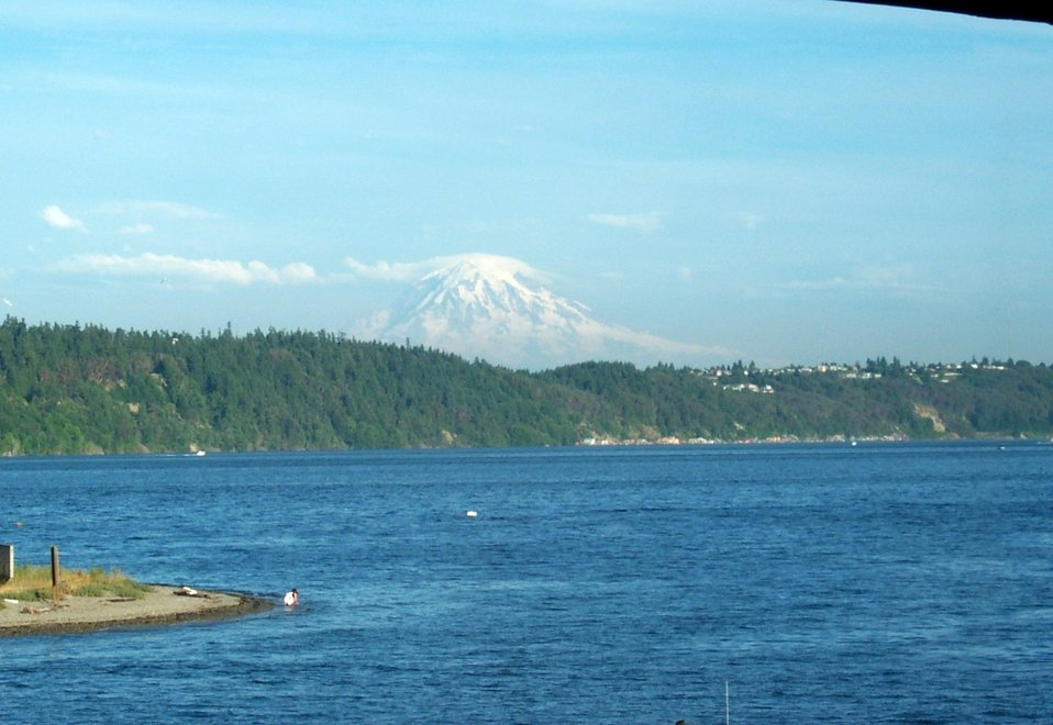 View of Mount Rainier from Gig Harbor.