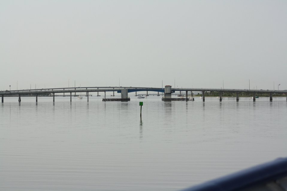 Approaching Florida A1A bridge at Fort Pierce from the north.  The Seaway Drive bridge is the second bridge as seen from the north.