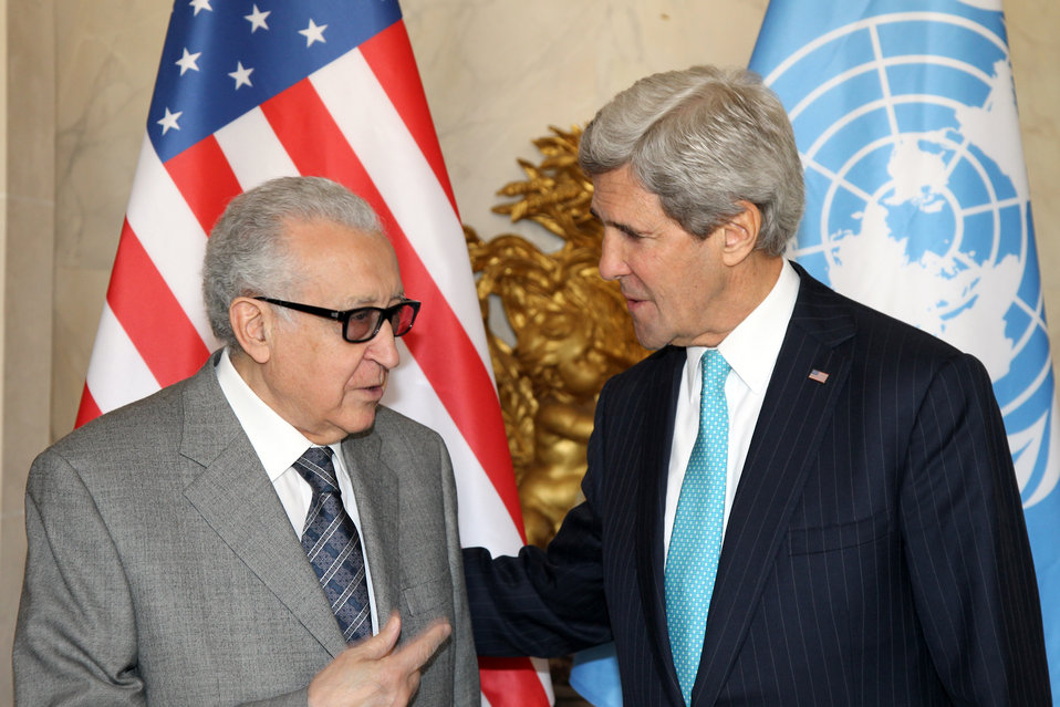 Secretary Kerry Meets With UN Special Representative Brahimi