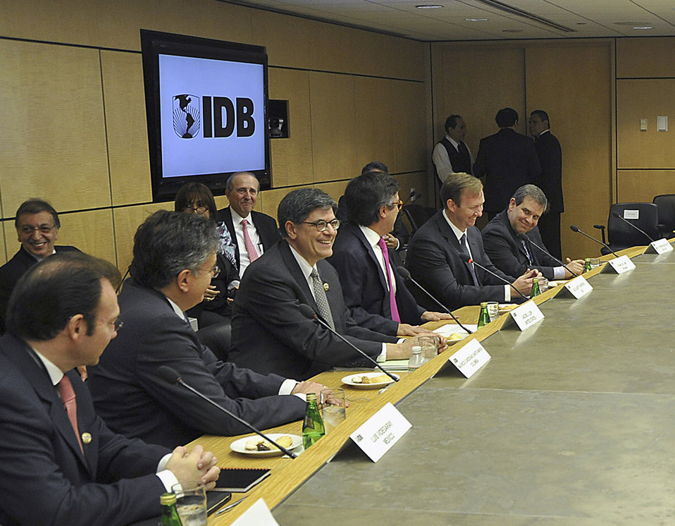 Secretary Lew at the Inter-American Development Bank