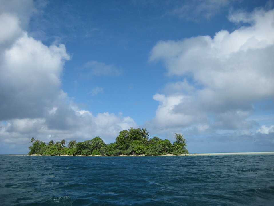 A tropical islet.