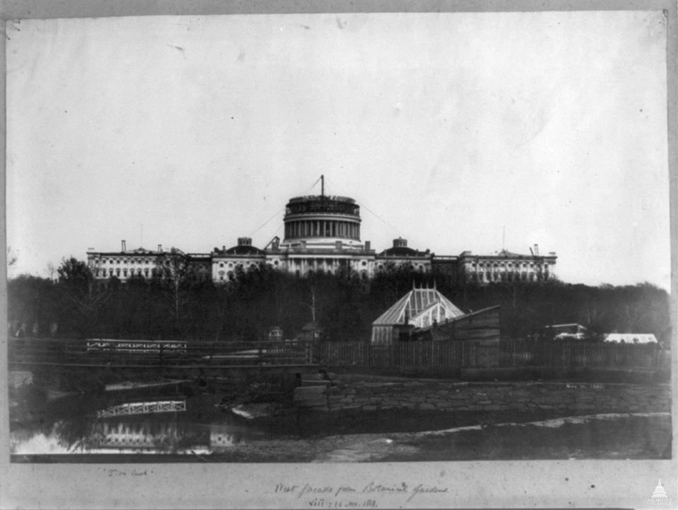 Construction of the Capitol Dome - 1860