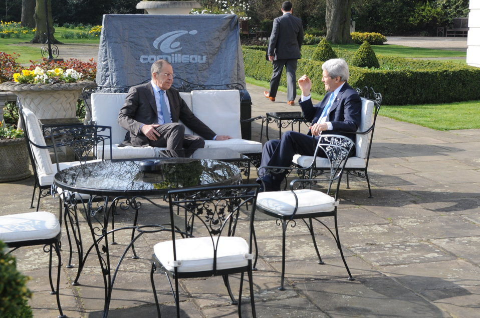 Secretary Kerry, Russian Foreign Minister Lavrov Hold One-on-One Meeting in London