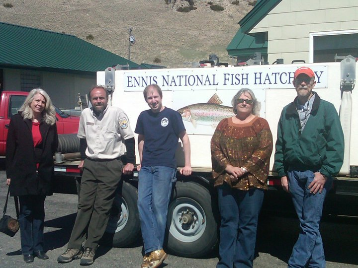 Staff at Ennis National Fish Hatchery