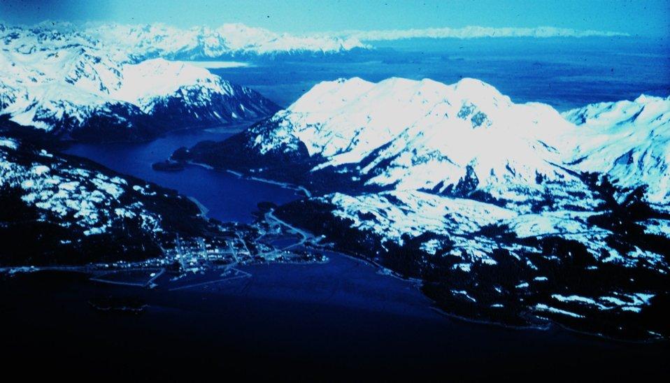 The entrance to Valdez
