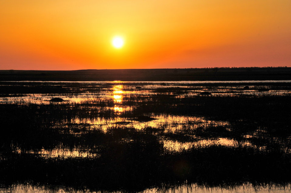 Sunset over Pool 8 at Lacreek National Wildlife Refuge
