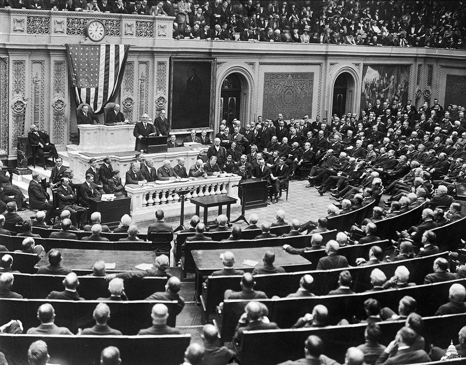 President Harding Addresses Joint Session of Congress - 1921
