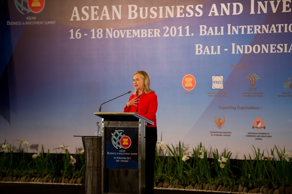 Secretary Clinton Addresses the ASEAN Business Investment Summit