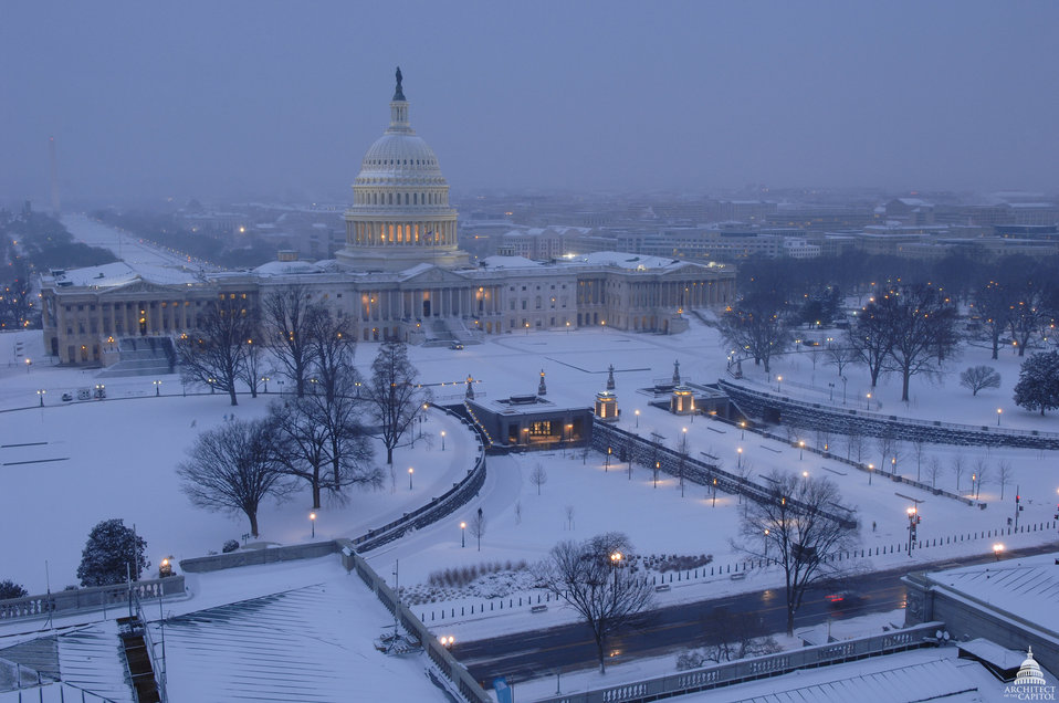 U.S. Capitol Building in Snow - February 2010 Blizzard