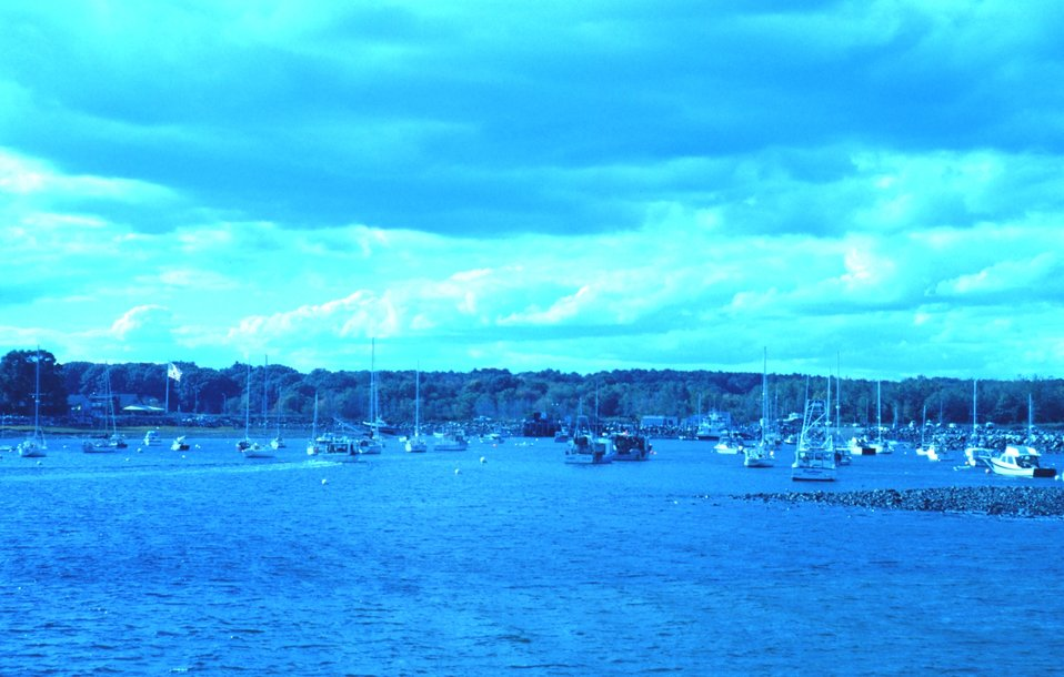 A view of the harbor at Odiorne Point State Park.