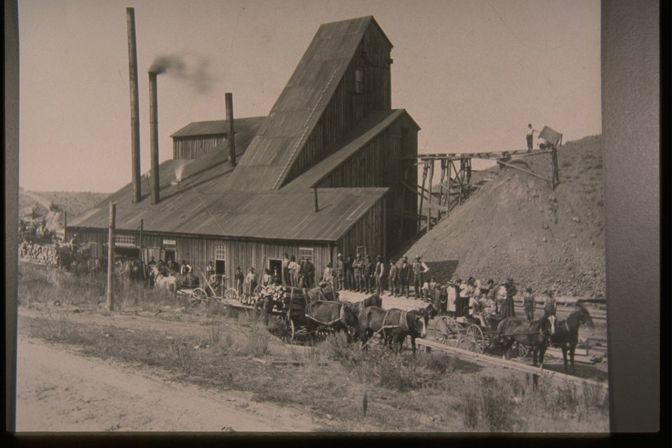 Historic View of the White Swan Mine.
