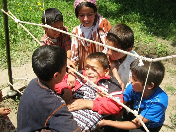 Tajik Youth Play Games