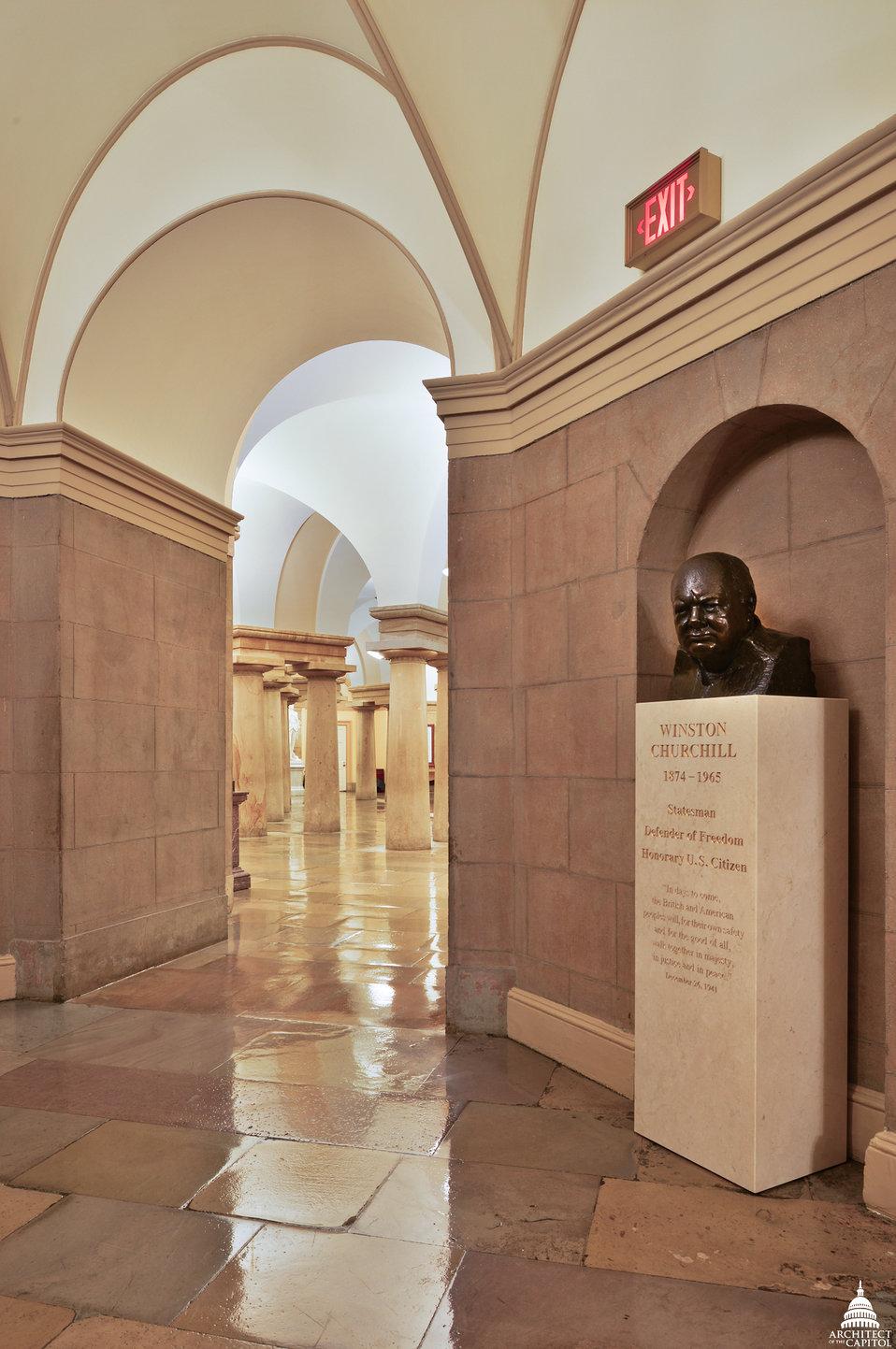 Winston Churchill Bust in Small House Rotunda