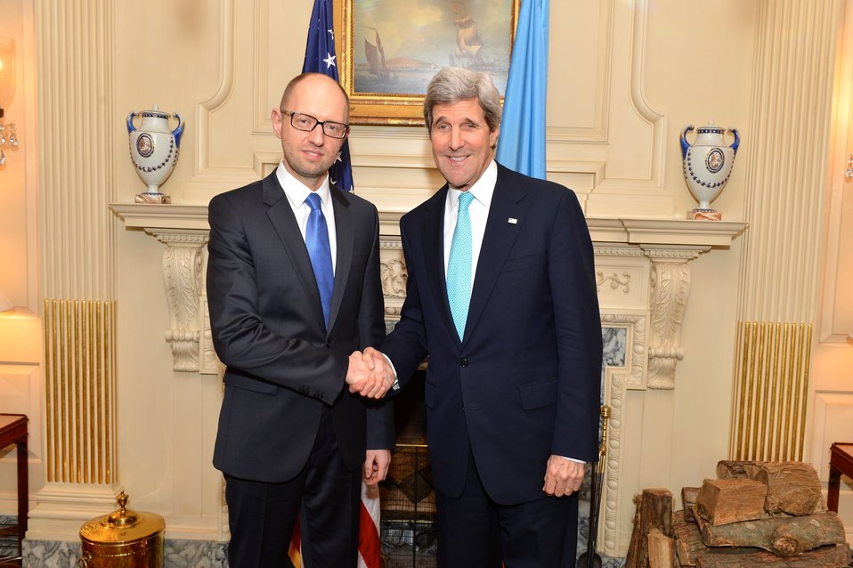 Secretary Kerry Meets With Ukrainian Prime Minister Yatsenyuk