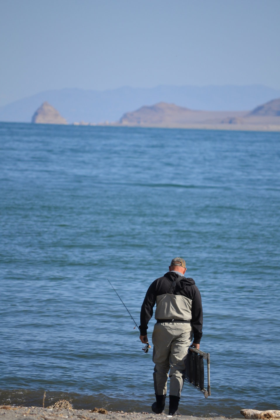 Fisherman at Pyramid Lake
