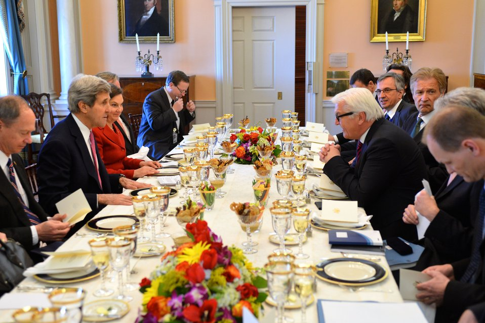 Secretary Kerry Hosts a Working Lunch With Steinmeier