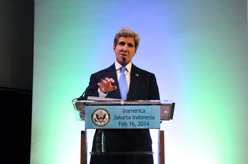Secretary Kerry Delivers Climate Change Speech in Indonesia