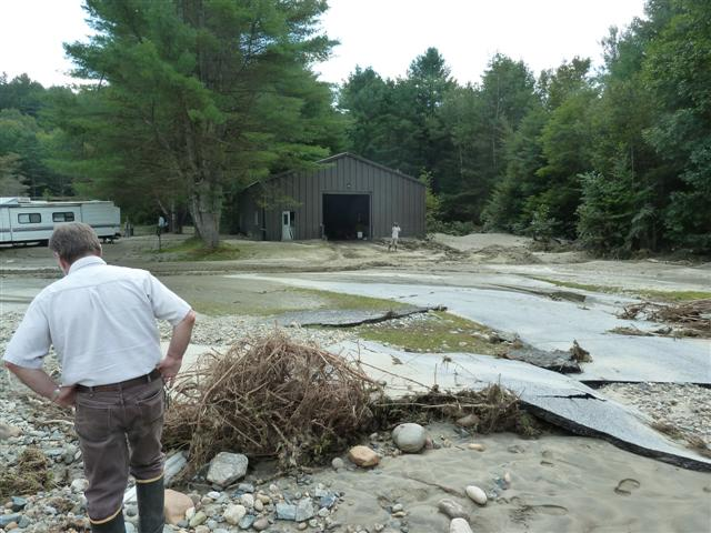 Damage at White River NFH - Bethel, VT