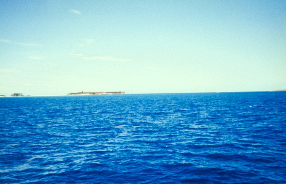 Approaching Fort Jefferson from the east.
