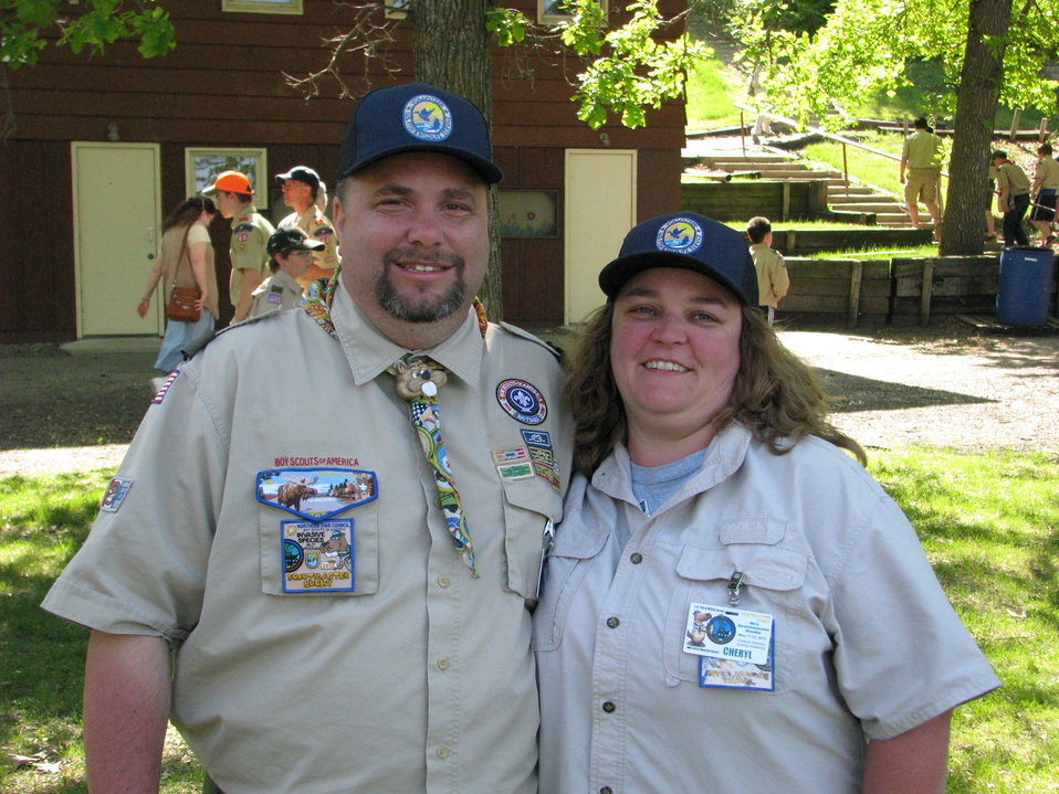 Mr. and Mrs. Scoutmaster Bucky