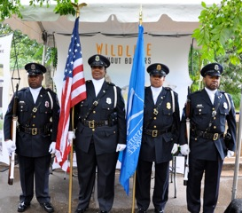US Postal Honor Guard Cyndi Perry