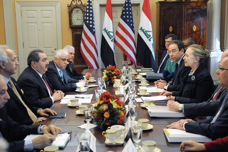 Secretary Clinton and Iraqi Foreign Minister Zebari Launch the Joint Coordination Committee