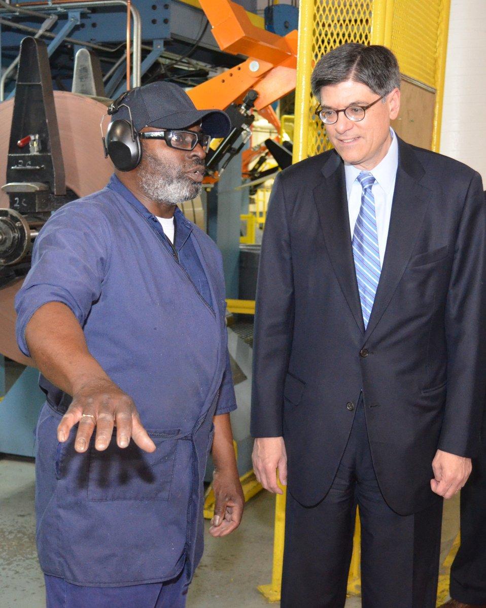 Secretary Lew visits the Denver Mint