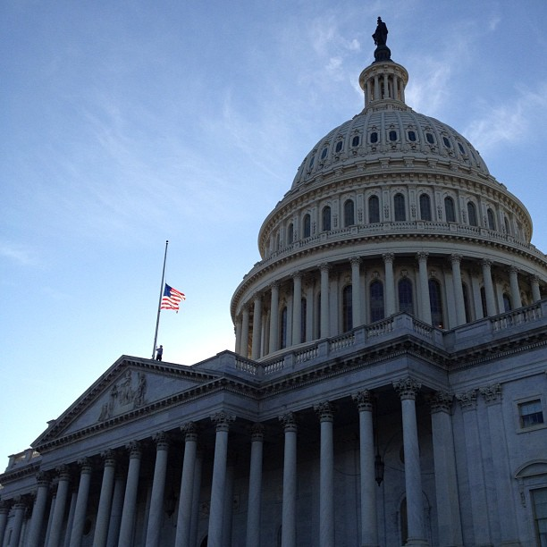 Capitol Flag Lowered to Half-staff for Newtown, Ct