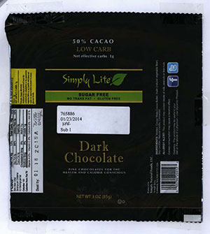 RECALLED – Dark Chocolate Bar