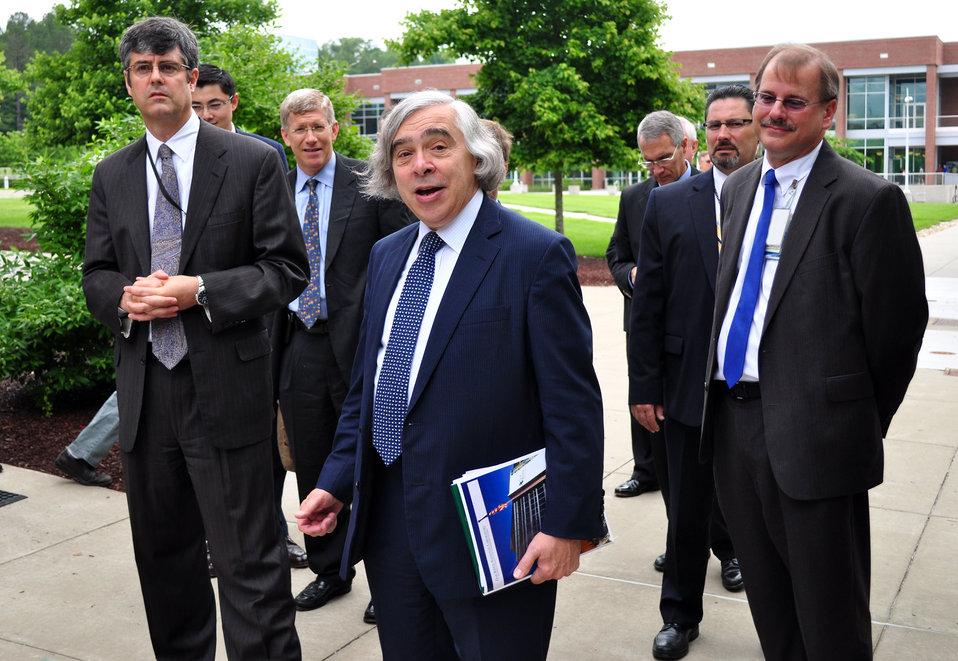 DOE Secretary of Energy  Ernest Moniz  in Oak Ridge