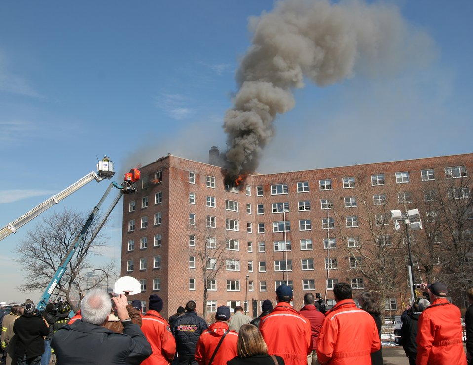 High-Rise Fire Test; Positive Pressure Ventilation Fans