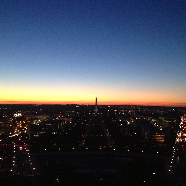 Sunset over #DC from the #CapitolDome.