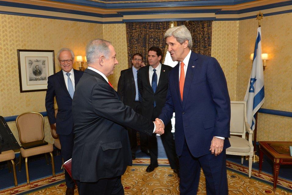 0303 kerSecretary Kerry Meets With Israeli Prime Minister Netanyahury netanyahu 1