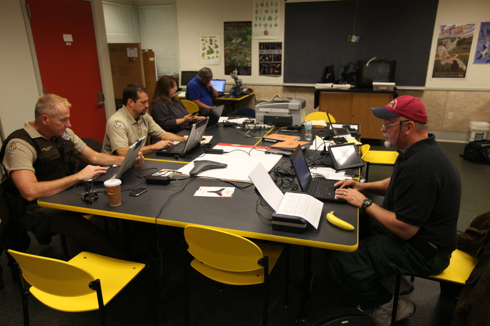 U.S. Fish and Wildlife Service incident command center