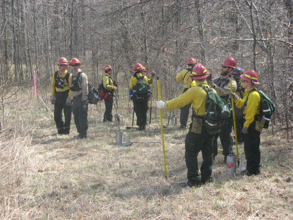 Wildland firefighters ready to do controlled burn