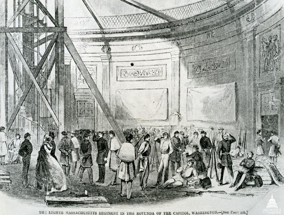 Troops in Rotunda
