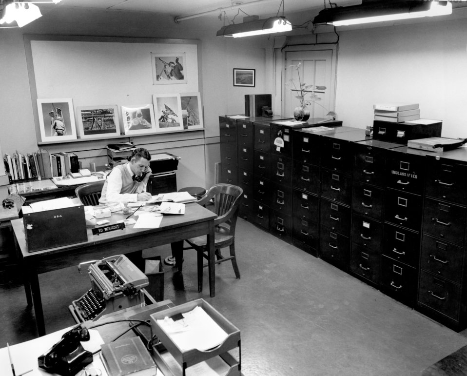 Ed Westcott in His Office Oak Ridge 1957