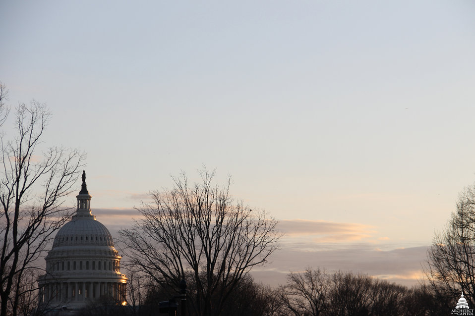 Winter Sunset at Capitol